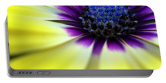 Yellow Beauty With A Hint Of Blue And Purple Portable Battery Charger