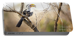 Yellow-billed Hornbill Sitting In A Tree.  Portable Battery Charger