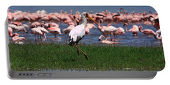 Yellow Billed Stork Portable Battery Charger by Aidan Moran