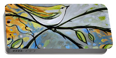 Yellow Bird Among Sage Twigs Portable Battery Charger