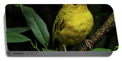 Portable Battery Charger featuring the photograph Yellow Bird by Pradeep Raja Prints