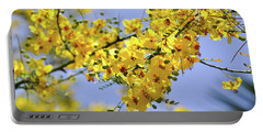 Portable Battery Charger featuring the photograph Yellow Blossoms by Gandz Photography