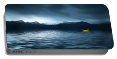 Yellow Boat Portable Battery Charger by Bess Hamiti