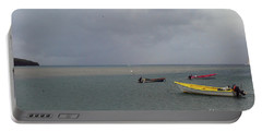 Portable Battery Charger featuring the photograph Yellow Boat by Gary Wonning