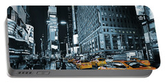 Yellow Broadway At Night - Nyc Portable Battery Charger