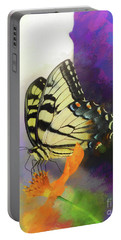 Yellow Butterfly Art Portable Battery Charger by Scott Cameron