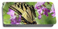 Yellow Butterfly Portable Battery Charger by David Stasiak