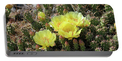 Portable Battery Charger featuring the photograph Yellow Cactus Blooms by Ann E Robson