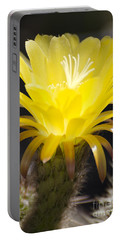 Yellow Cactus Flower Portable Battery Charger by Jim And Emily Bush