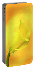 Yellow Calla Lily Portable Battery Charger by Cyndy Doty