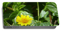 Yellow Caribbean Flower Portable Battery Charger by Margaret Brooks