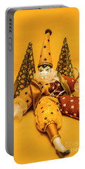Yellow Carnival Clown Doll Portable Battery Charger