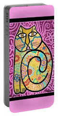 Yellow Cat Portable Battery Charger by Jim Harris
