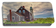 Yellow Clouds Over Scituate Lighthouse Portable Battery Charger