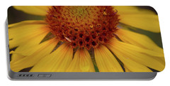 Yellow Cone Flower Portable Battery Charger by John Roberts
