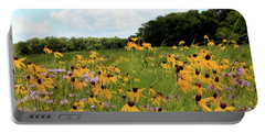Yellow Cone Flowers Portable Battery Charger
