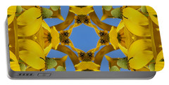 Yellow Coneflower Kaleidoscope Portable Battery Charger by Smilin Eyes  Treasures