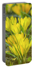 Yellow Crocuses Close Up Portable Battery Charger