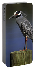 Yellow-crowned Night Heron Portable Battery Charger by Sally Weigand