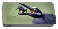 Portable Battery Charger featuring the photograph Yellow Crowned Night Heron  by Savannah Gibbs