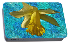 Portable Battery Charger featuring the photograph Yellow Daffodil 3 by Jean Bernard Roussilhe
