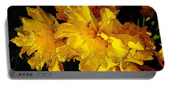 Portable Battery Charger featuring the photograph Yellow Daffodils 4 by Jean Bernard Roussilhe