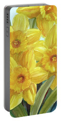 Yellow Daffodils Portable Battery Charger by Janet Zeh