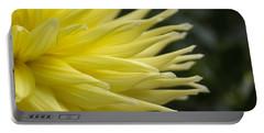 Yellow Dahlia Petals Portable Battery Charger