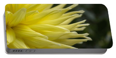 Yellow Dahlia Petals Portable Battery Charger