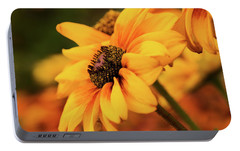 Portable Battery Charger featuring the photograph Yellow Dark by Mary Jo Allen