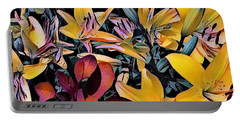 Yellow Daylilies Portable Battery Charger by Kathie Chicoine