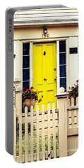 Portable Battery Charger featuring the photograph Yellow Door by Kendall McKernon