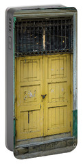 Yellow Doors Cuba Portable Battery Charger by Perry Webster