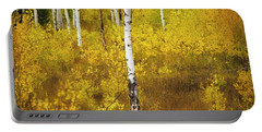 Portable Battery Charger featuring the photograph Yellow Fall Aspen by Craig J Satterlee