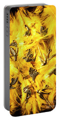 Yellow Feather Flock Portable Battery Charger