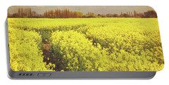 Yellow Field Portable Battery Charger by Lyn Randle