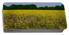 Yellow Field Portable Battery Charger by Tim Good