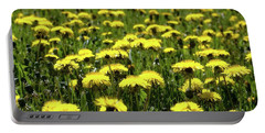 Yellow Field Two  Portable Battery Charger by Lyle Crump