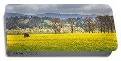 Yellow Fields Along The Eel River Portable Battery Charger by Mark Alder