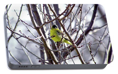 Portable Battery Charger featuring the photograph Yellow Finch by Bonnie Muir