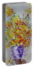 Yellow Florwers Portable Battery Charger