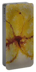Portable Battery Charger featuring the drawing Yellow Flower by AJ Brown