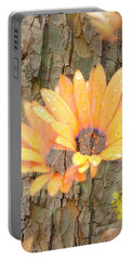 Yellow Flower Bark Portable Battery Charger