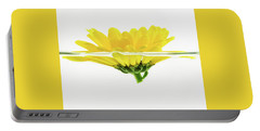 Yellow Flower Floating In Water Portable Battery Charger