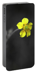 Yellow Flower Portable Battery Charger by Rachel Mirror