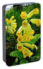 Portable Battery Charger featuring the photograph Yellow Flowers 2 by Jean Bernard Roussilhe