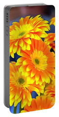 Yellow Flowers In Thick Paint Portable Battery Charger