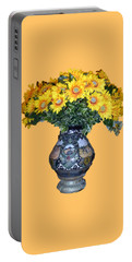 Portable Battery Charger featuring the photograph Yellow Flowers In Vase by Francesca Mackenney