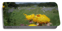 Yellow Flowers Portable Battery Charger