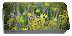 Yellow Flowers Portable Battery Charger by Kelly Wade
